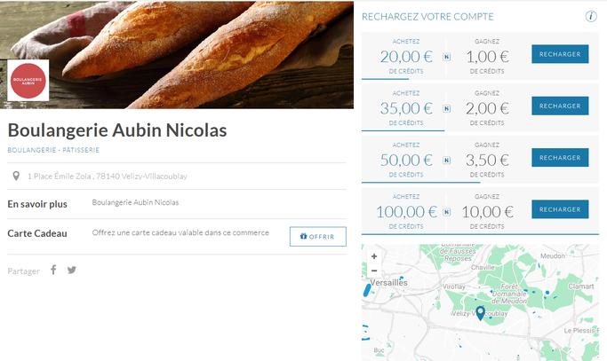 Visuel de l'application LesHabitués pour la boulangerie Nicolas Aubin de Vélizy.