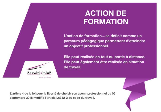 DÉFINITION DE L'ACTION DE FORMATION