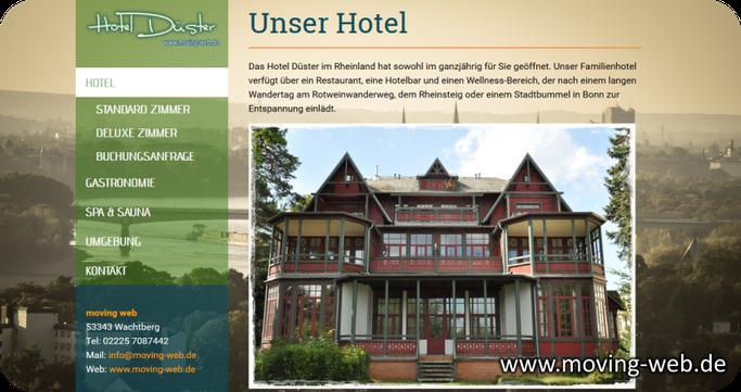 Musterwebseite für einen Hofladen mit Öffnungszeitem, Kontaktdaten und aktuellem Angebot von www.moving-web.de