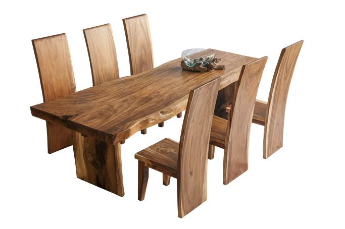 Example for a delivred and set up mahogany table (chairs additional costs)