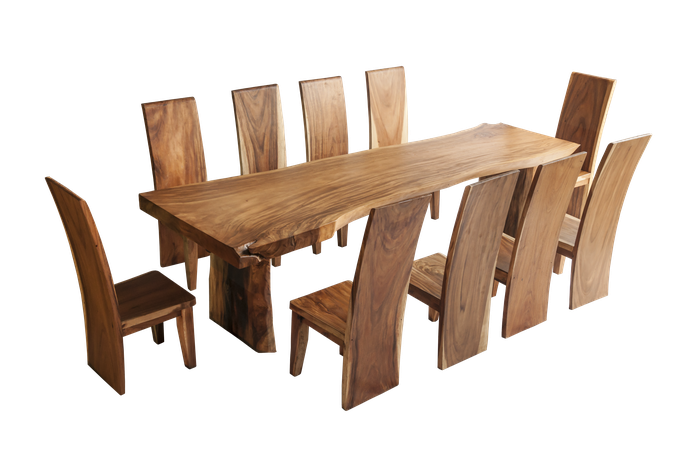 Example for a delivered and set up mahogany table (chairs additional costs)