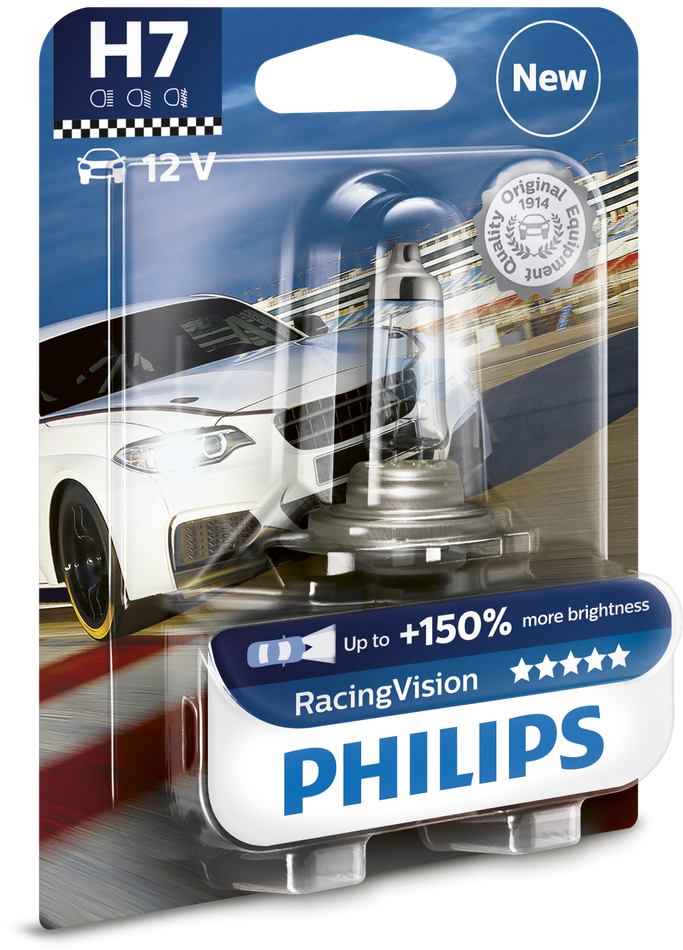 PHILIPS RACING VISION 150% mehr LIcht