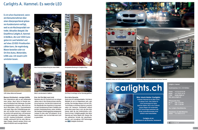 "carlights.ch im Swissportrait ""Best of Aargau"""