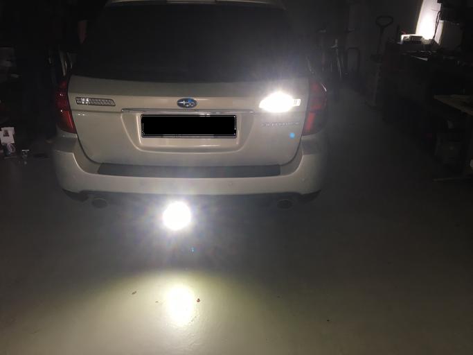 LED Umbau Rückfahrlicht beim SUBARU Outback W16W