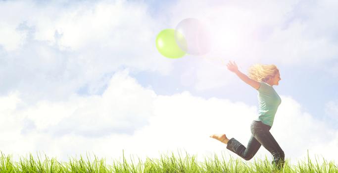 Mit Spaß und Freude im Bewusstsein der gegenwärtigen Leichtigkeit die innere und äußere Freiheit genießen.