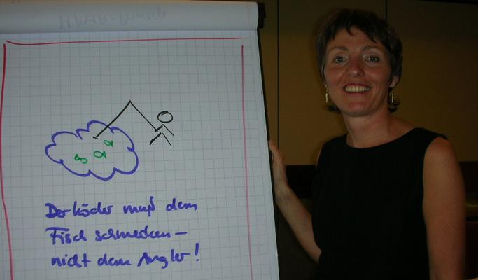 Seminarimpression Sommer 2007: Wird es das Flip-Chart in Zukunft im Training noch geben?