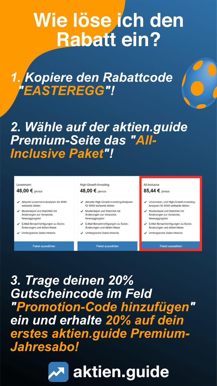 Oster-Rabatt beim AktienGuide