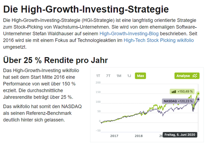 High-Growth-Investing Strategie im Aktien.Guide