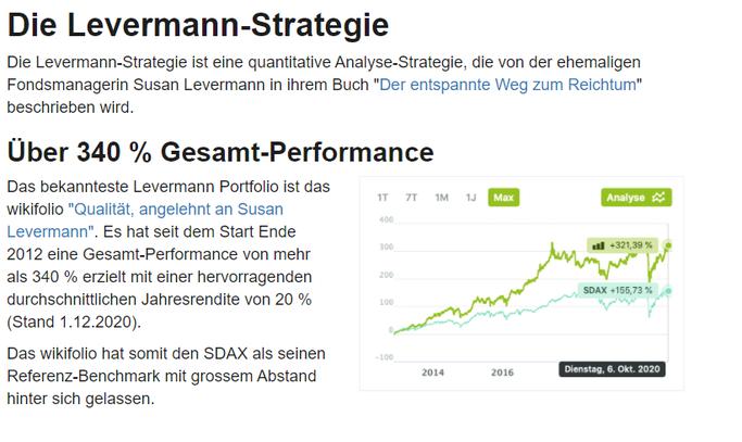 Erklärung: Was ist der Levermann Score und die Levermann Strategie?