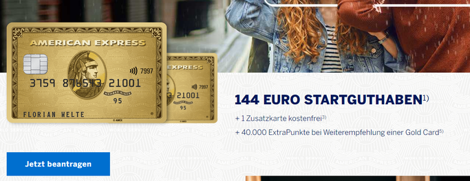 American Express Gold Kreditkarte