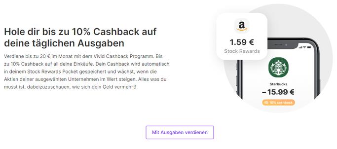Cashback auf Netflix, Lieferando, Rewe mit dem Konto von Vivid