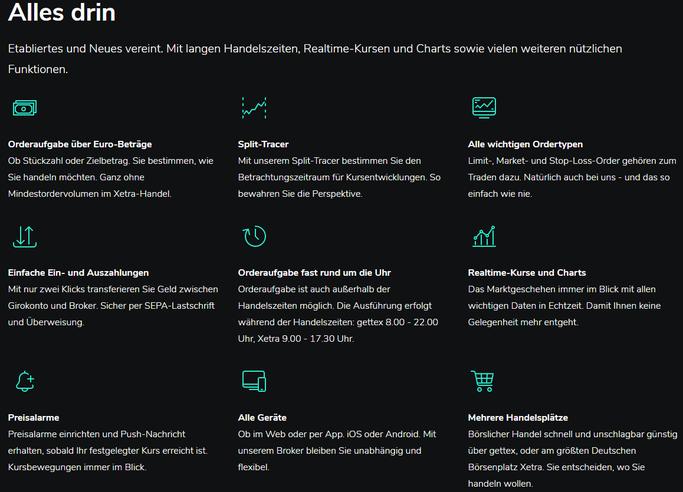 Informationen über Kryptowährungen und ETPS bei Scalable Capital