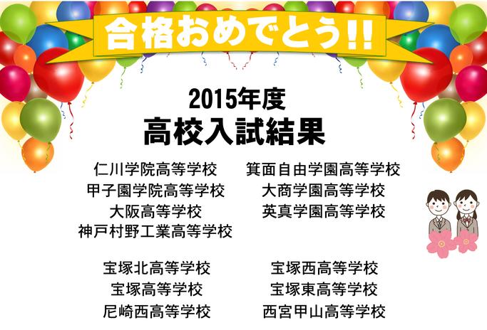 2015年度 高校入試結果実績