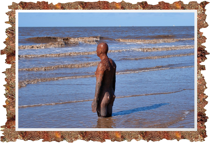 Another Place (1997) – Crosby Beach in der Nähe von Liverpool, England.