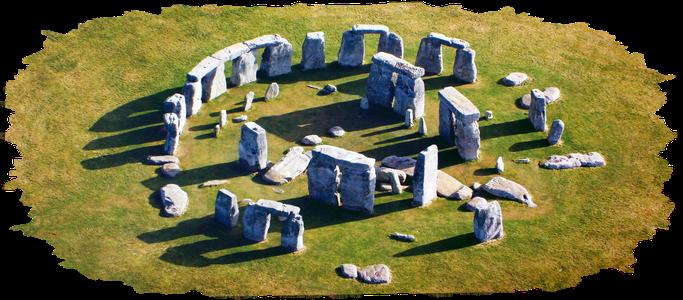 Stonehenge ist eine heilige prähistorische Stätte, deren Anordnung sich nach dem Lauf der Sonne richtet.