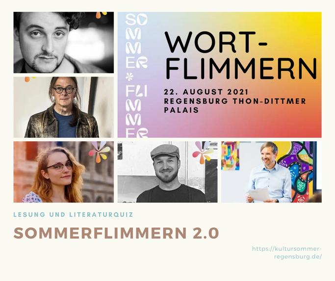 Wort-Flimmern Sommerflimmern Regensburg