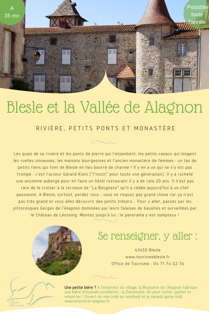 des slows holidays à Blesle en Auvergne
