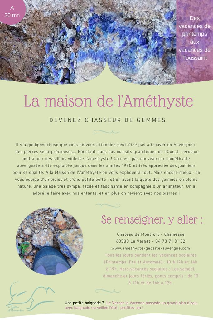 Visite près de votre hébergement écologique en Auvergne