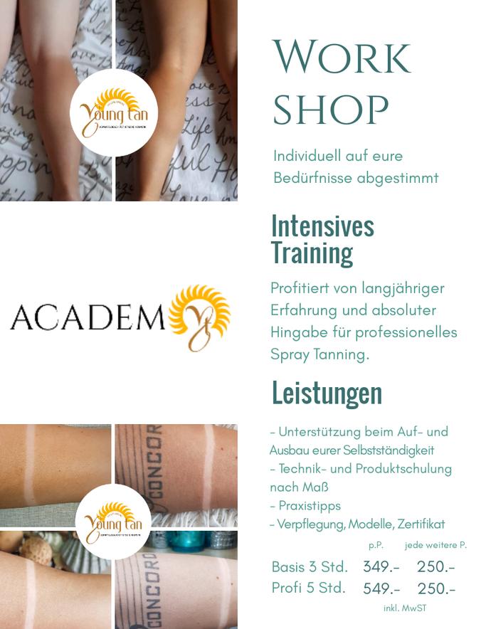 spray tanning schulung ausbildung workshop training erfahrung