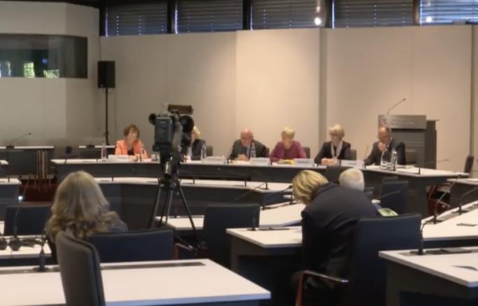 Foto: Pressekonferenz zur Bekanntgabe der ExStra-Ergebnisse in Bonn (Screenshot).