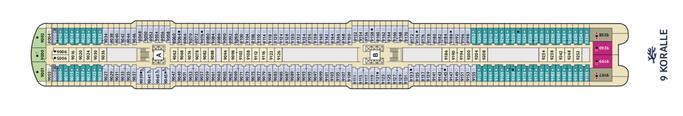 Mein Schiff 1 Deck 9 | © TUI Cruises