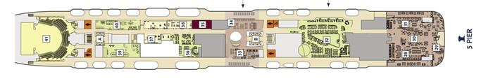 Mein Schiff 1 Deck 5 | © TUI Cruises