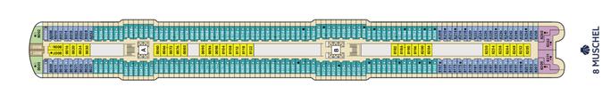 Mein Schiff 1 Deck 8 | © TUI Cruises