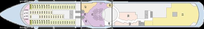 AIDAmar Deck 9 | © AIDA Cruises