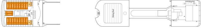 MSC Magnifica Deck 15 | © MSC Kreuzfahrten