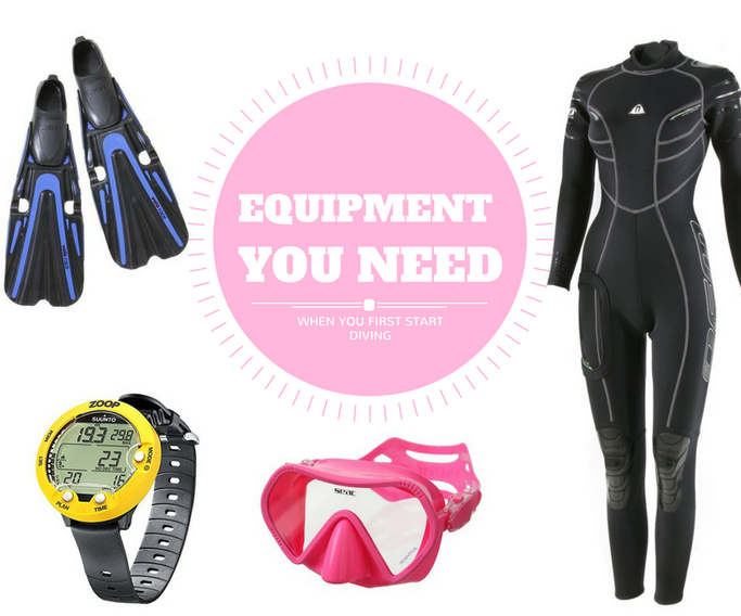 starting scuba diving equipment