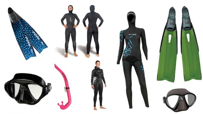 best women freedive equipment