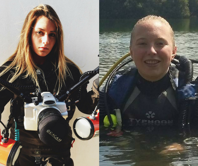 teenage scuba divers
