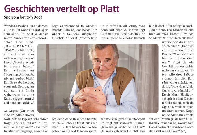 Plattdeutsche Geschichten lesen