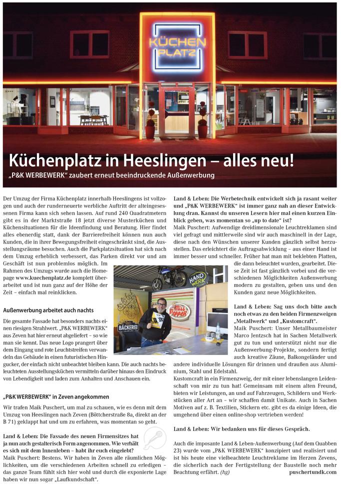 Küchenplatz Heeslingen neuer Standort