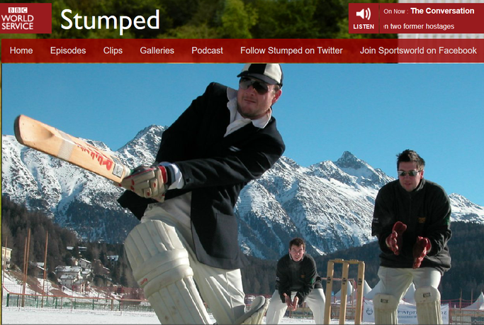 "Cricket on Ice features on BBC radio's ""Stumped"""