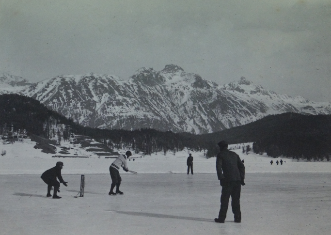 First Cricket on Ice match (vs Davos, February 1896)