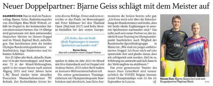 Holsteinischer Courier vom 14.07.2017