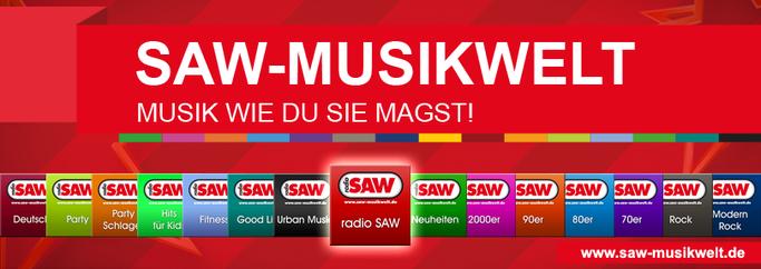 die radio SAW Musikwelt jetzt mit 16 livestreams!