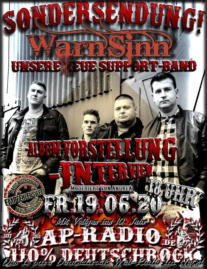 WarnSinn bei AP-Radio - 110% Deutschrock