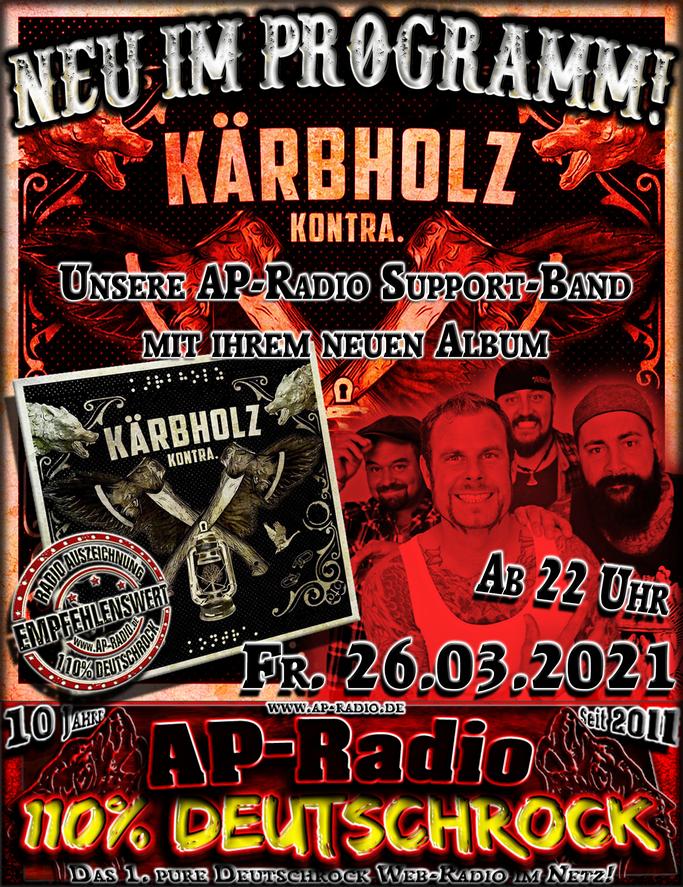 Kärbholz bei AP-Radio - 110% Deutschrock
