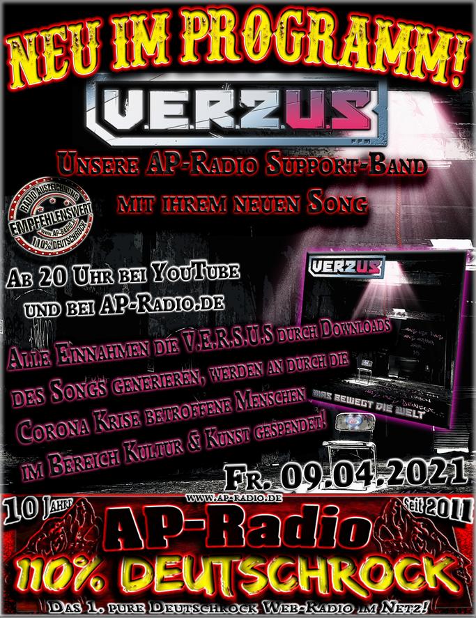 V.E.R.S.U.S bei AP-Radio - 110% Deutschrock