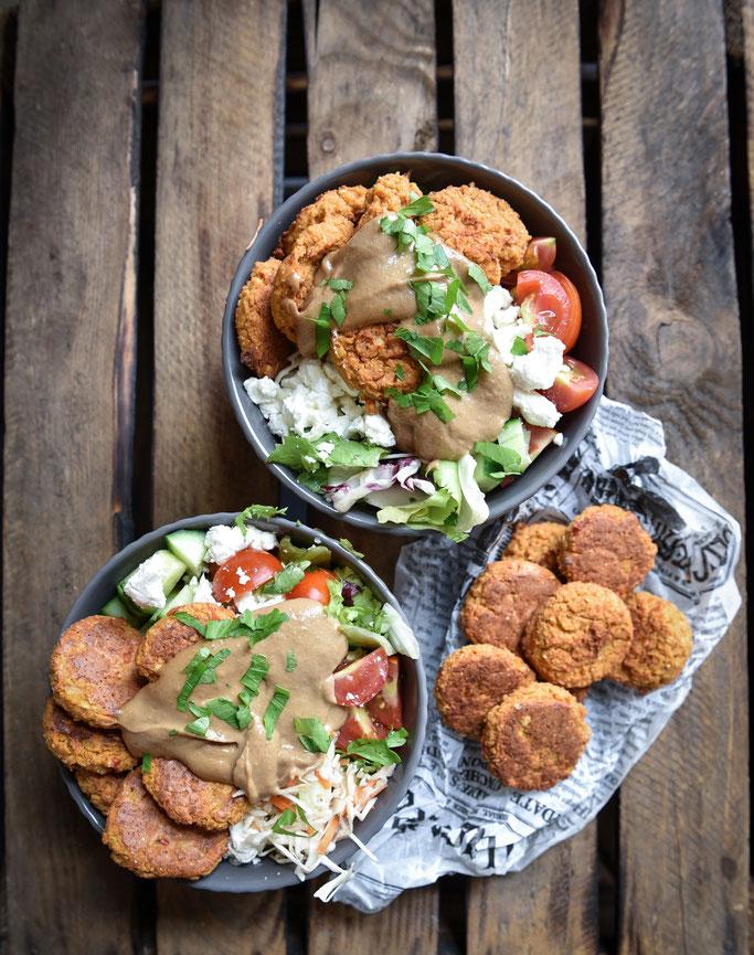 Kartoffelstampf mit Sour Cream, Röstzwiebeln und Käse, vegetarisch, vegan machbar, Thermomix
