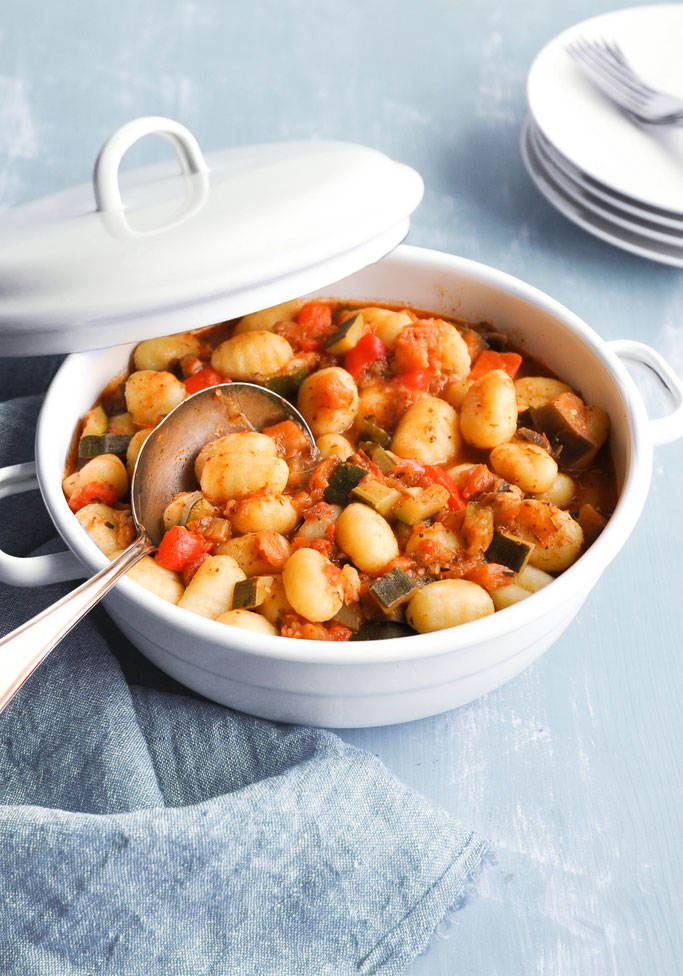 Gnocchi mit Ratatouille - ein All in One Gericht für den Thermomix vegetarisch vegan