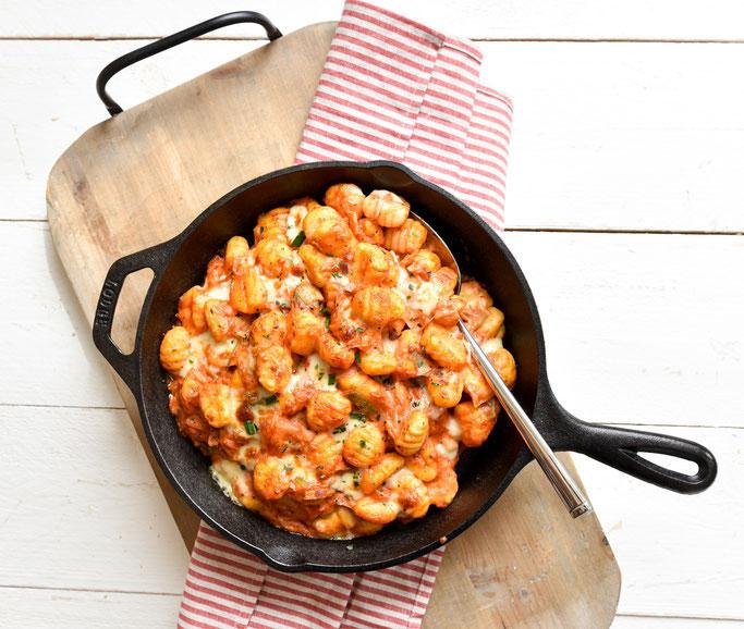 Gnocchi in Tomaten Lauch Soße, vegetarisch, ruck zuck Rezept, Thermomix