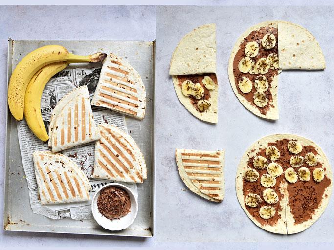 Wrap Taschen Nutella Banane