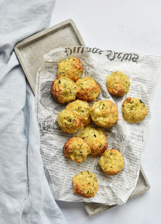 Zucchini Bites - Zucchini Taler mit Käse, Thermomix