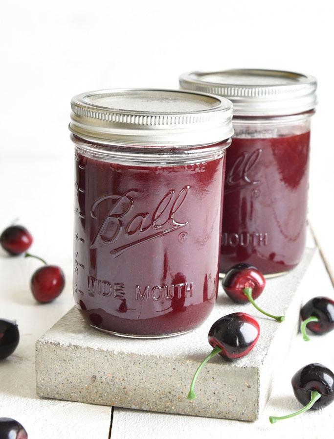 """Kirschmarmelade """"Cherry Coke"""" - Kirschkonfitüre mit einem leichten Geschmack von Cola, Thermomix"""