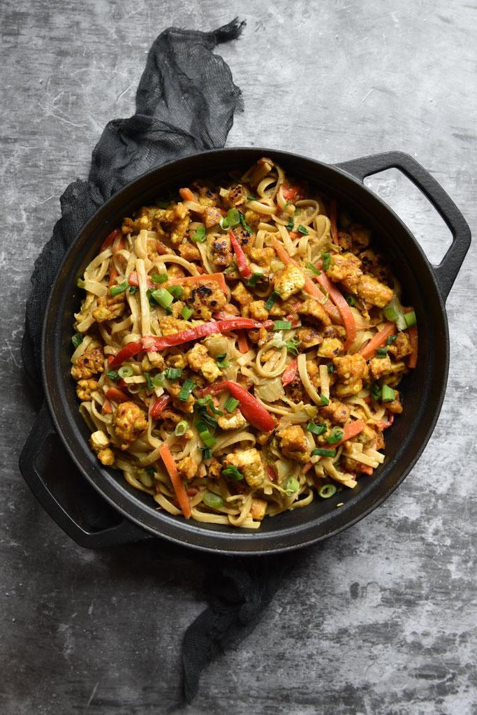 Reistopf Text Mex mit Kidneybohnen, Mais, Tomaten, Avocado, Paprika, vegan, vegetarisch, Thermomix
