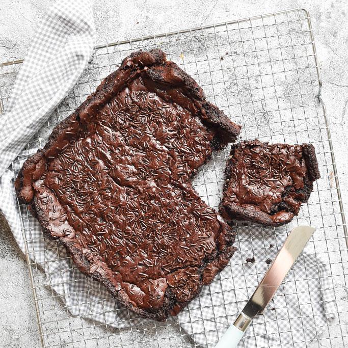 Brownie ohne Mehl, aus Kidneybohnen, vegan möglich, Thermomix