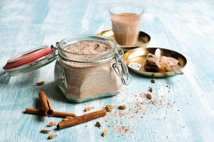 Chai Latte Pulver selbst gemacht DIY Chai Tee Pulver zb aus dem Thermomix, vegan möglich